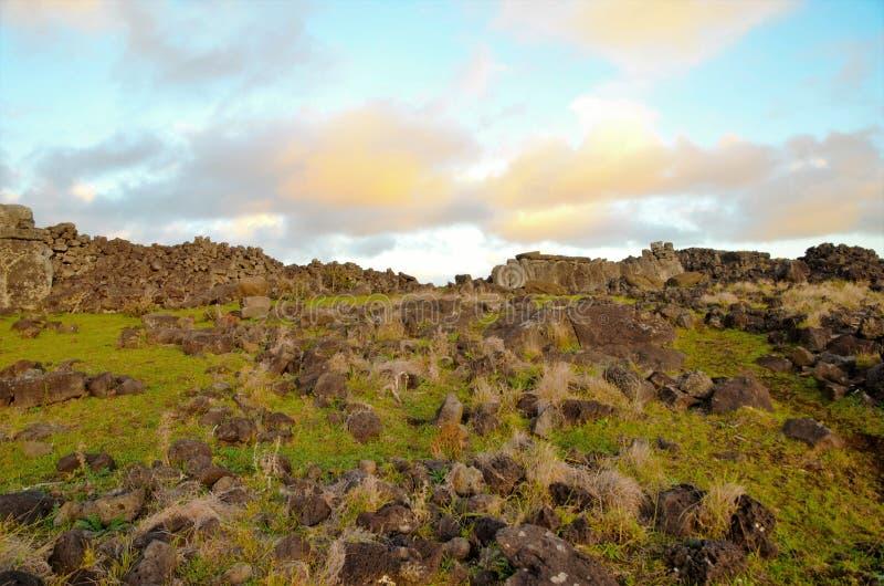 Побережья вокруг острова пасхи стоковые фото