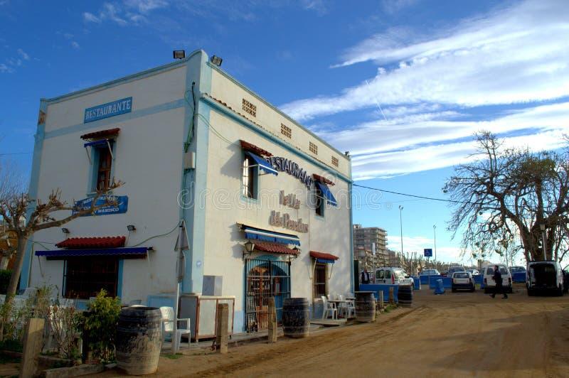 Побережь ресторан, Испания стоковое фото rf