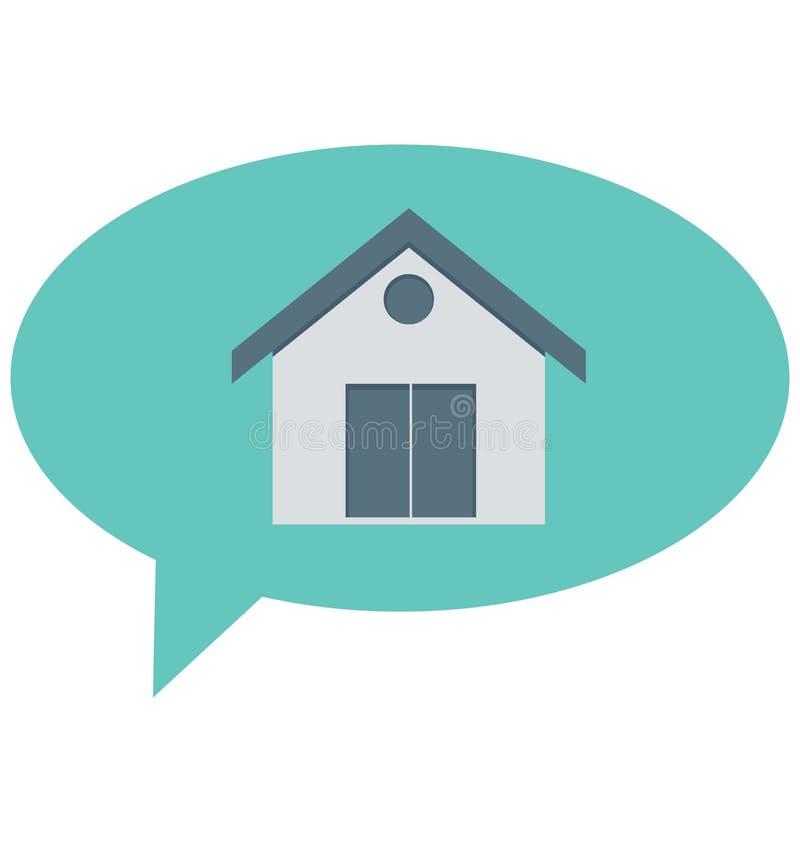 Побеседуйте пузырь, дом подпишите изолированные контрактом значки вектора смогите быть доработайте с любым стилем иллюстрация вектора