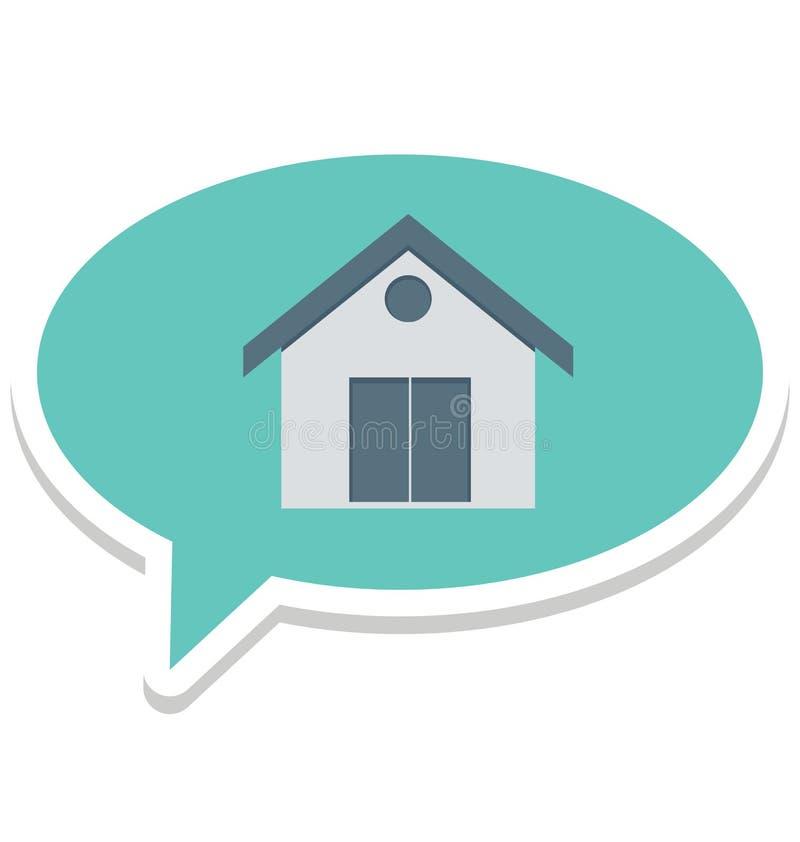 Побеседуйте пузырь, дом подпишите изолированные контрактом значки вектора смогите быть доработайте с любым стилем бесплатная иллюстрация