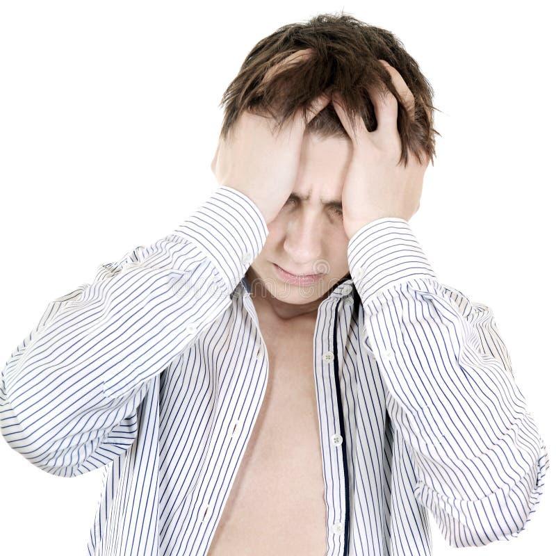 Побеспокоенный подросток стоковые изображения