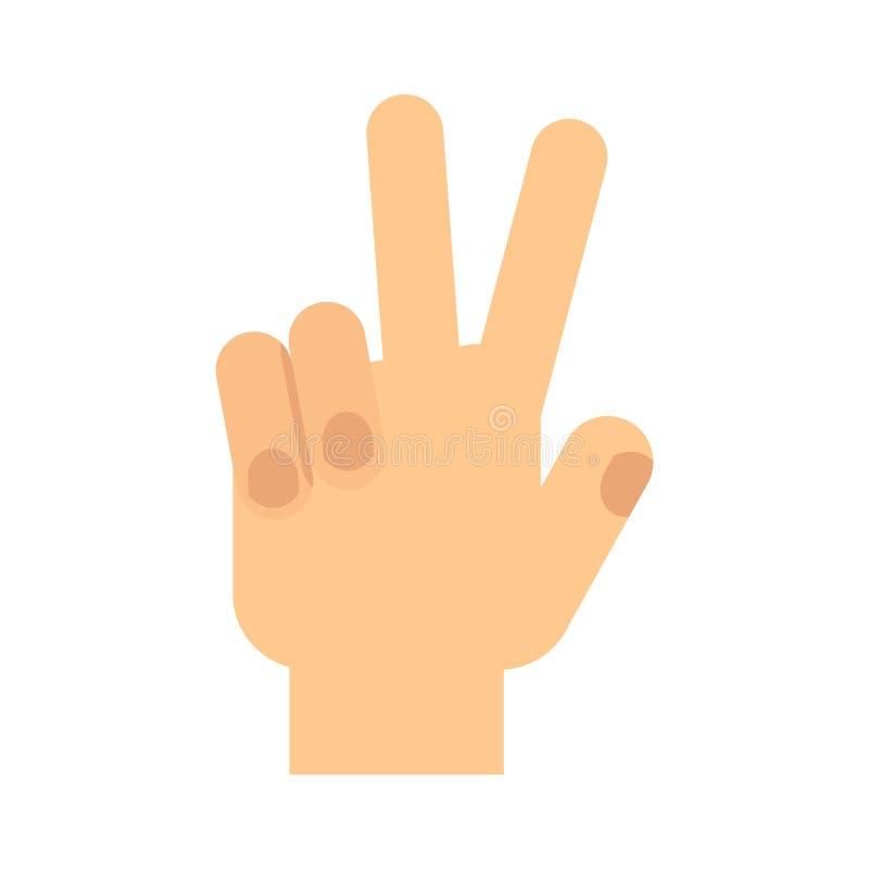 Победа жеста рукой иллюстрация штока