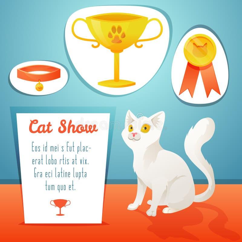 Победитель кота иллюстрация штока
