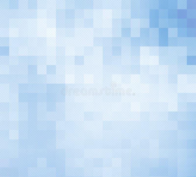 Побледнейте - голубая предпосылка мозаики иллюстрация вектора
