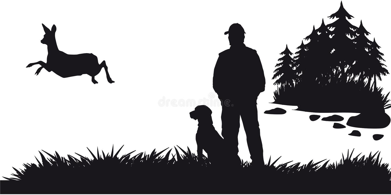 Побудительное звероловство животных и landscapes6 иллюстрация вектора