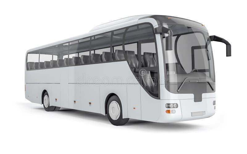Повезите насмешливое на автобусе вверх на белой предпосылке, иллюстрации 3D стоковое изображение