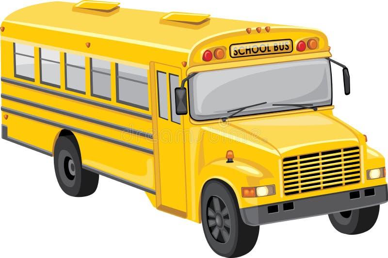 повезите школу на автобусе иллюстрация вектора