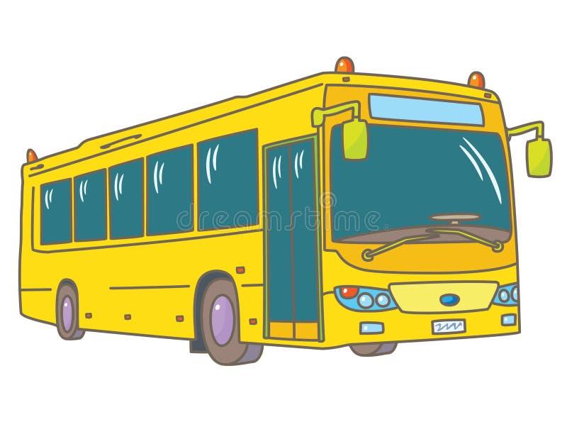 повезите школу на автобусе иллюстрация штока