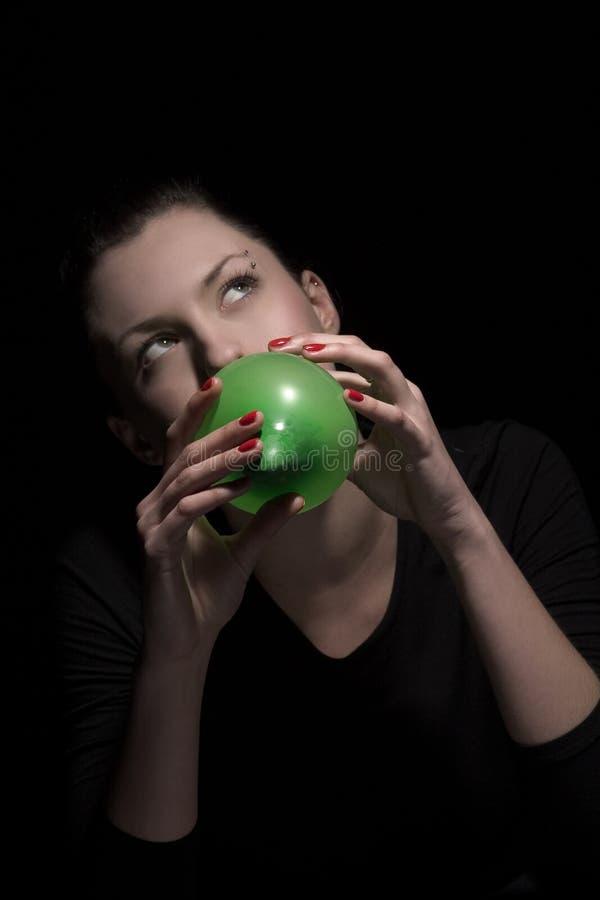 повелительница воздушного шара стоковое фото