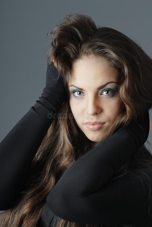 повелительница волос длиной сексуальная стоковые изображения