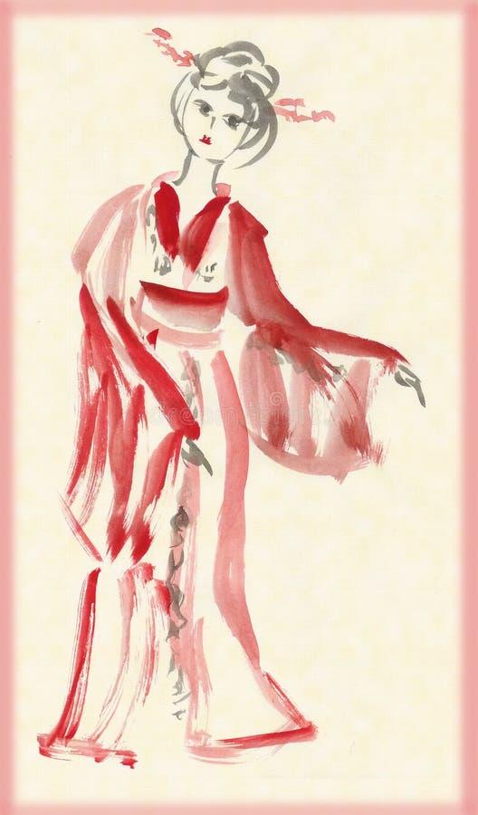 повелительница кимоно танцы бесплатная иллюстрация