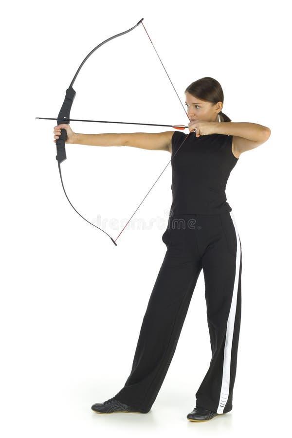повелительница лучника стоковая фотография rf