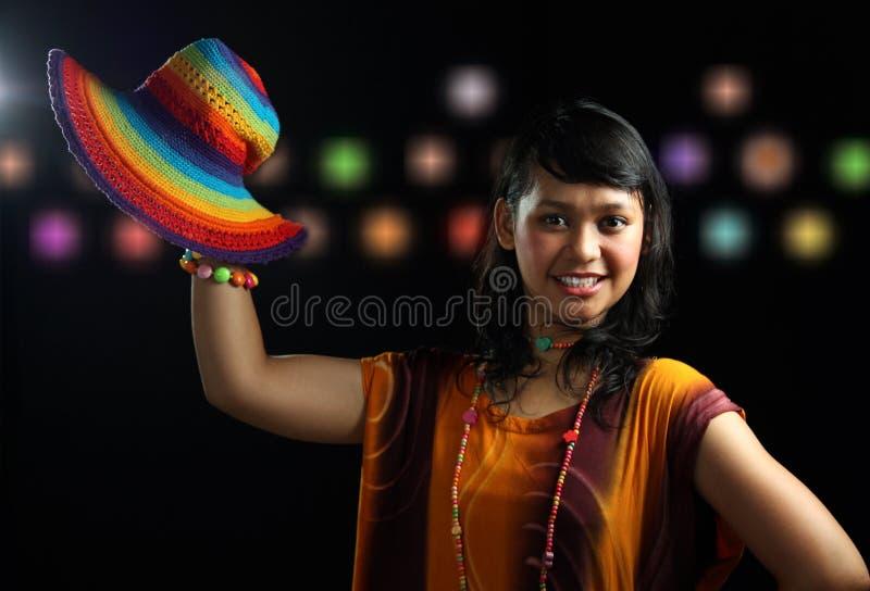 повелительница платья тропическая стоковое фото