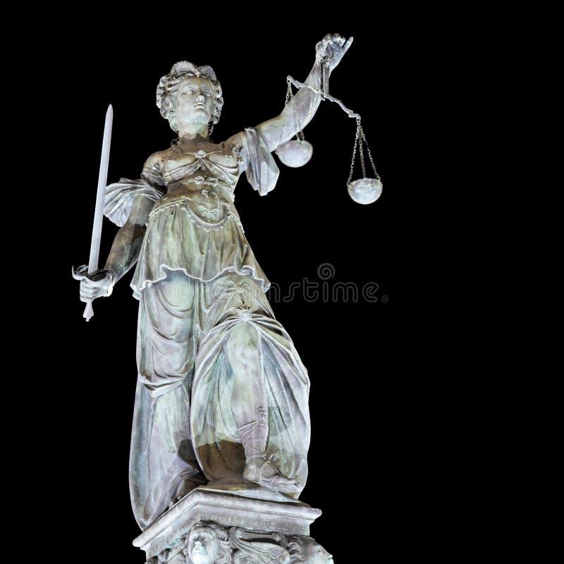 повелительница правосудия frankfurt стоковые фотографии rf