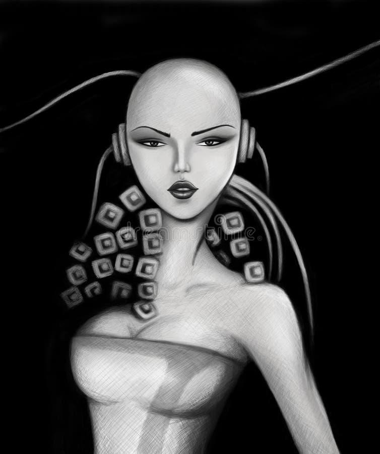 повелительница робототехническая стоковое изображение rf