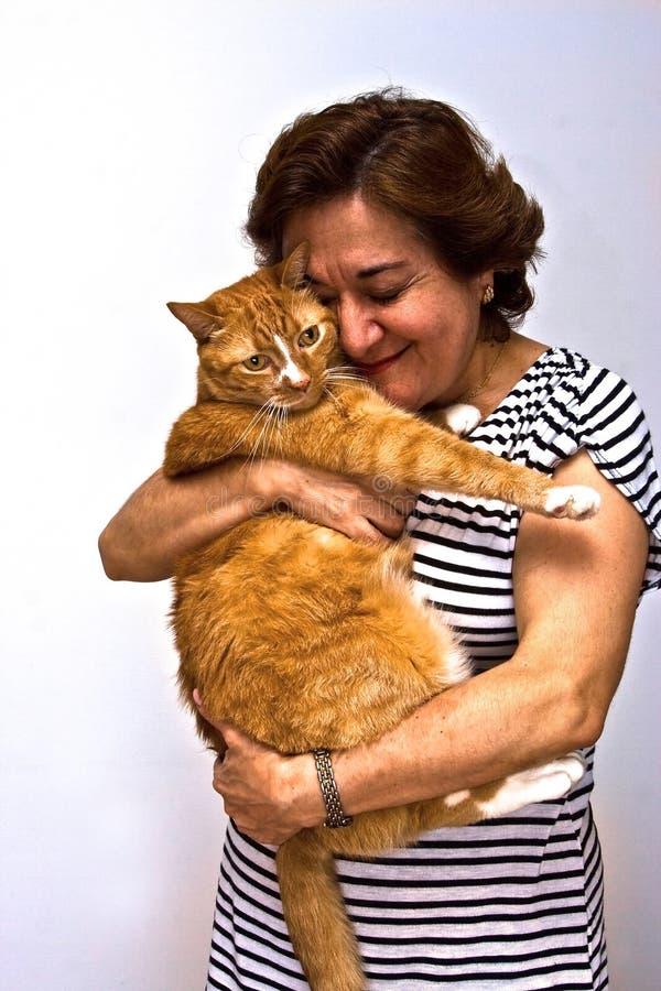повелительница удерживания кота стоковые изображения