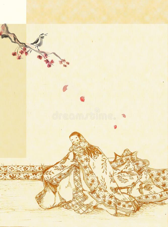 повелительница японца предпосылки бесплатная иллюстрация