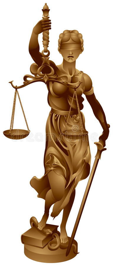 повелительница justitia правосудия бесплатная иллюстрация