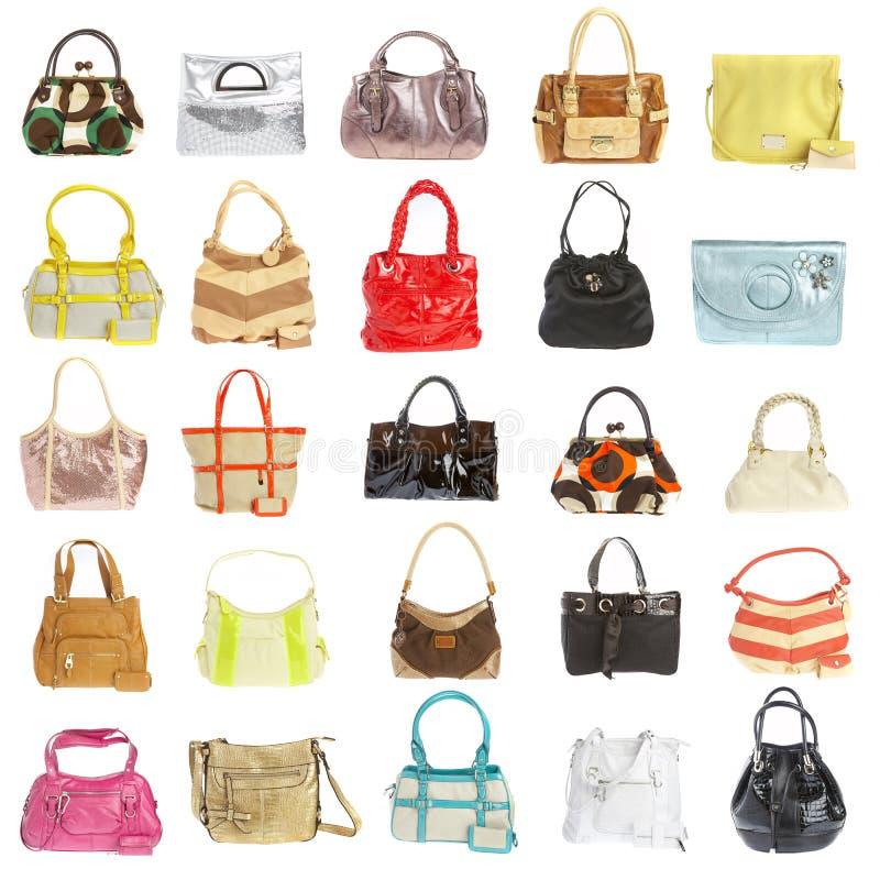 повелительницы сумки предпосылки белые стоковое изображение rf