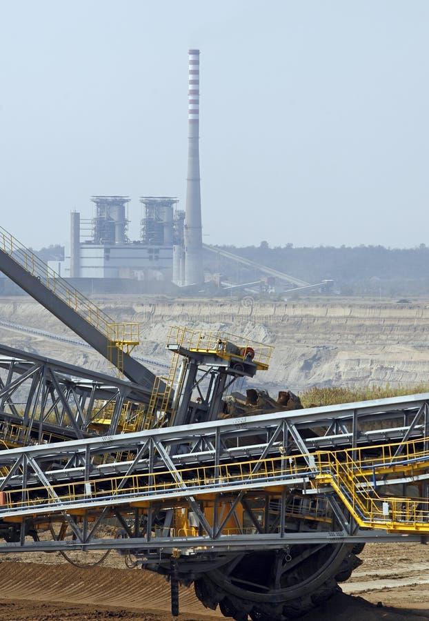 Поверхностная угольная шахта стоковая фотография rf