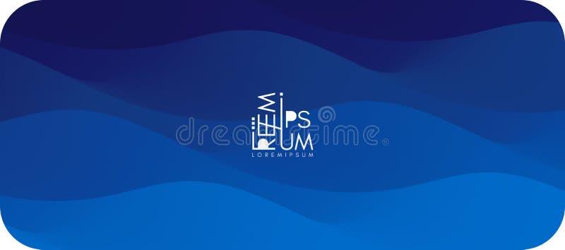 Поверхность воды Голубая абстрактная предпосылка Иллюстрация вектора для дизайна иллюстрация штока