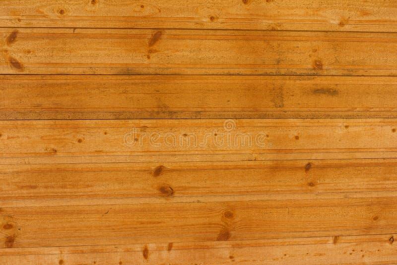 Поверхность деревянных доск, планок Текстура естественной древесины покрашенная с лаком, русым цветом конец вверх бесплатная иллюстрация