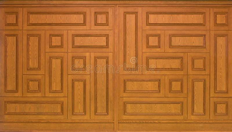 Поверхность деревянных предпосылки и текстуры панели стоковая фотография