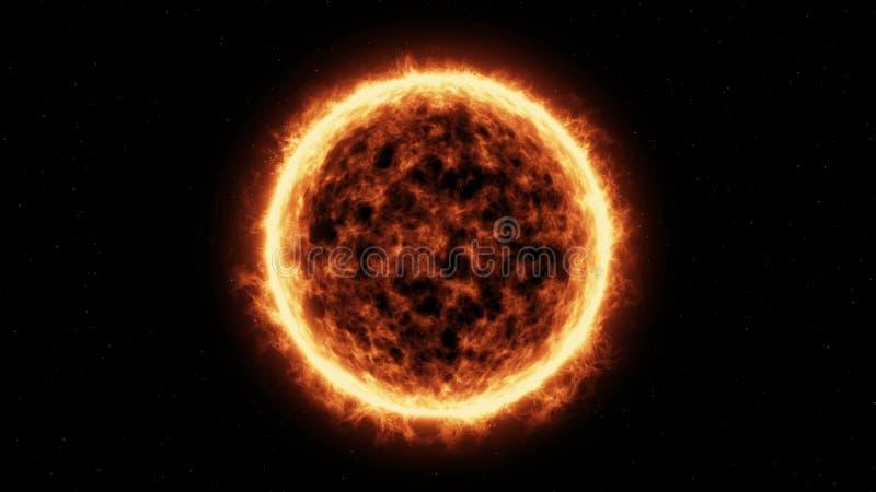 Поверхность и солнечные вспышки Солнця бесплатная иллюстрация