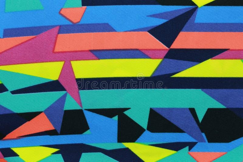 Поверхность красочных тканей и абстрактных картин стоковая фотография rf