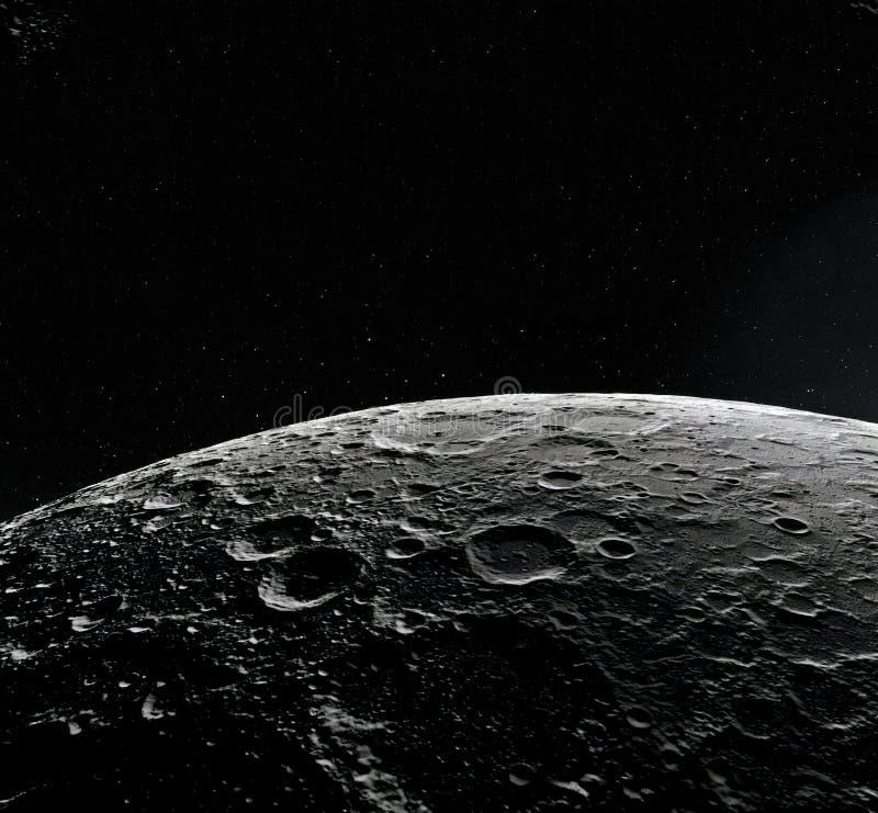 Поверхность луны Реалистические 3d представляют луны и космоса Космос и планета Спутник nebula звезды Элементы этого изображения иллюстрация вектора