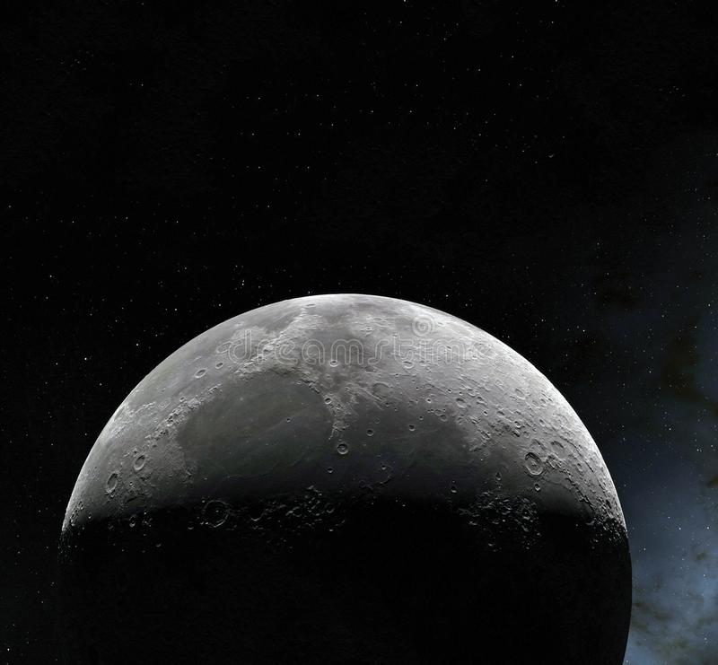 Поверхность луны Реалистические 3d представляют луны и космоса Космос и планета Спутник nebula звезды Элементы этого изображения бесплатная иллюстрация