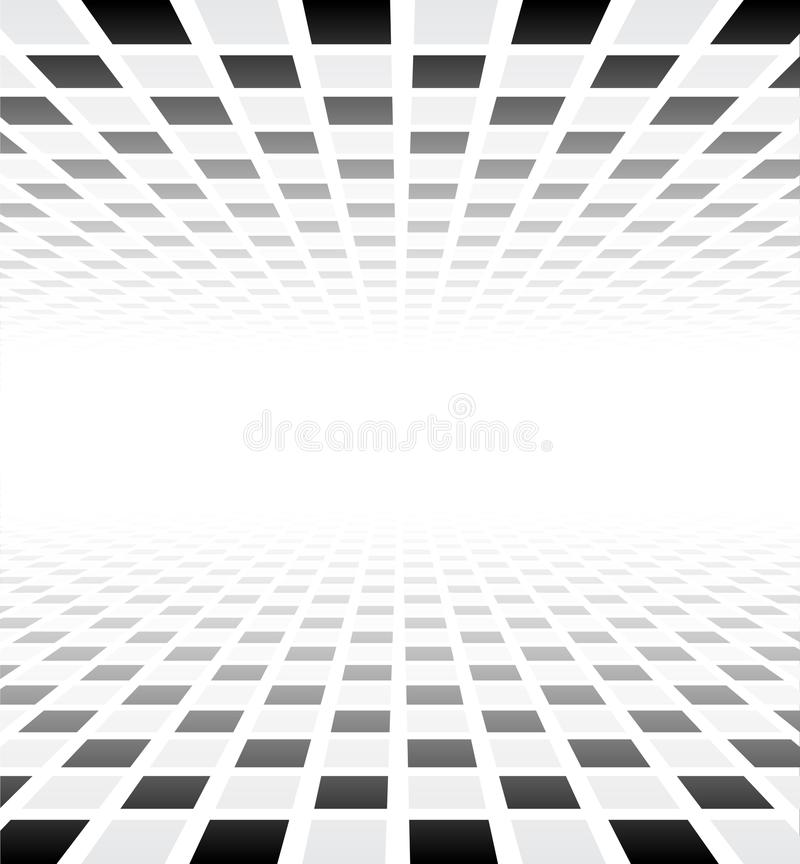 Поверхность перспективы checkered иллюстрация штока
