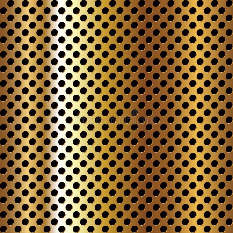 поверхность пефорированная металлом иллюстрация вектора