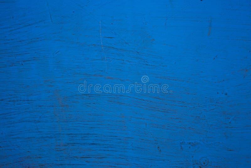 Поверхность покрашена с голубой краской, старой стеной стоковые изображения rf
