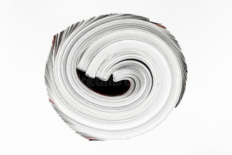 Поверхность предпосылки немногих переплетенных журналов изолированных на белой предпосылке стоковая фотография