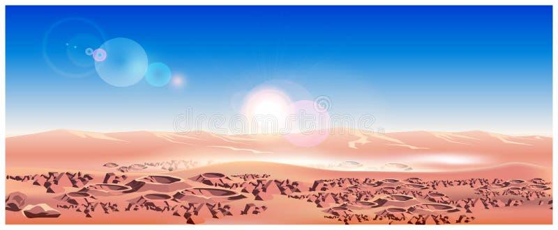 Поверхность планеты Марса иллюстрация штока