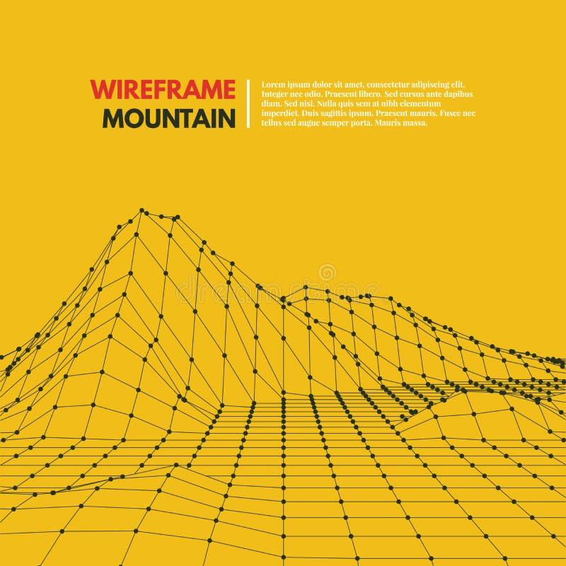 Поверхность сетки Wireframe полигональная иллюстрация штока