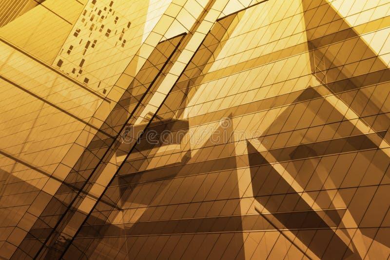 Поверхность стеклянного окна современного здания стоковое фото rf