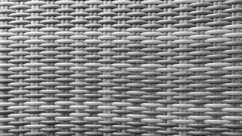Поверхность текстуры предпосылки картины Weave ротанга традиционного тайского ремесленничества стиля Monotone черно-белого деревя стоковое фото rf