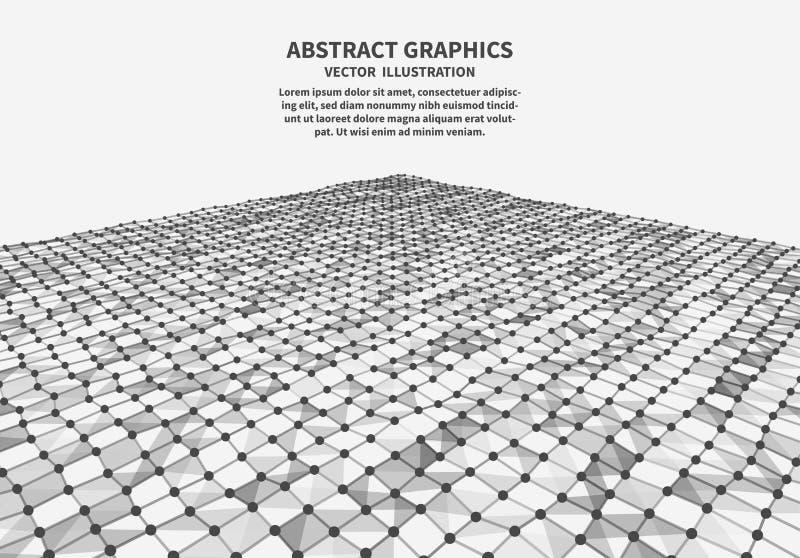 Поверхность цифров, иллюстрация вектора иллюстрация вектора