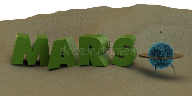 Поверхность Sandy Марса бесплатная иллюстрация