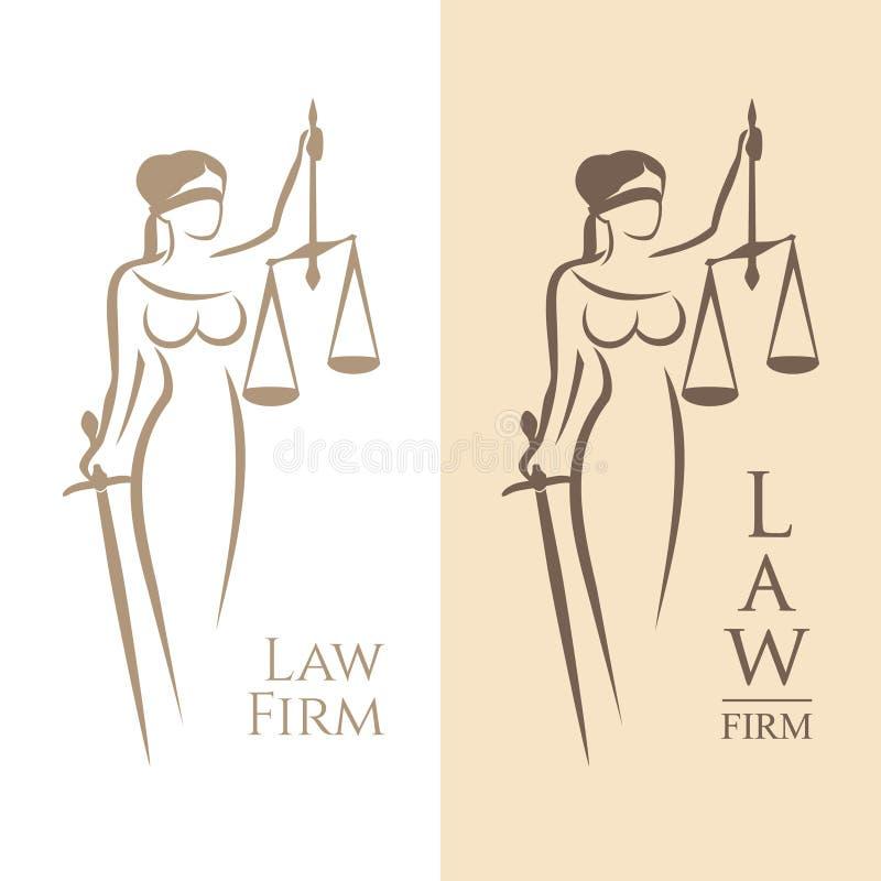 Повелительница Правосудие иллюстрация штока