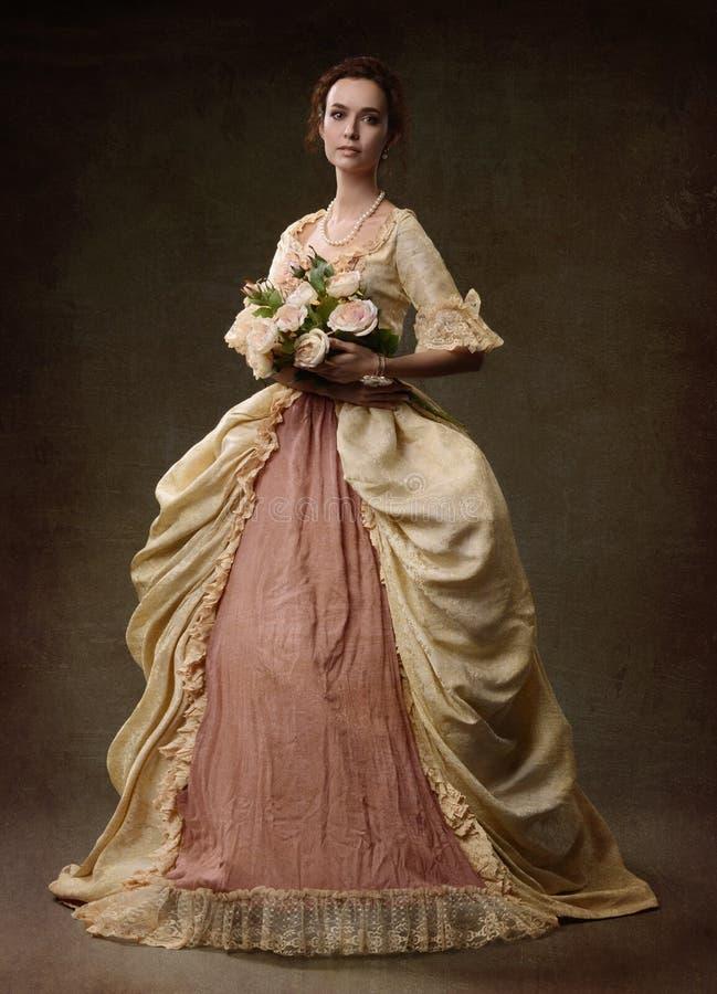 повелительница платья средневековая стоковое фото