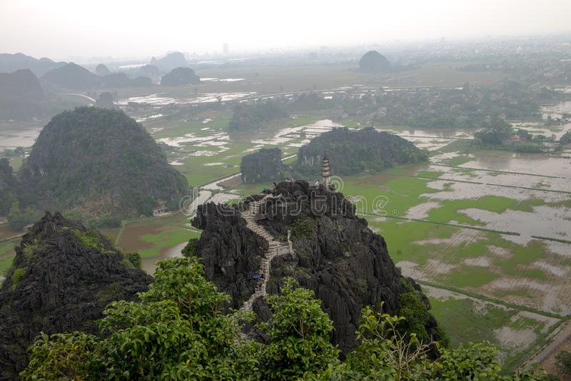 Повисните провинцию Ninh Binh виска M.U.A., Ha Noi Вьетнама декабря 2018 стоковое изображение