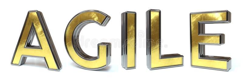 Поворотливый золотой текст иллюстрация вектора