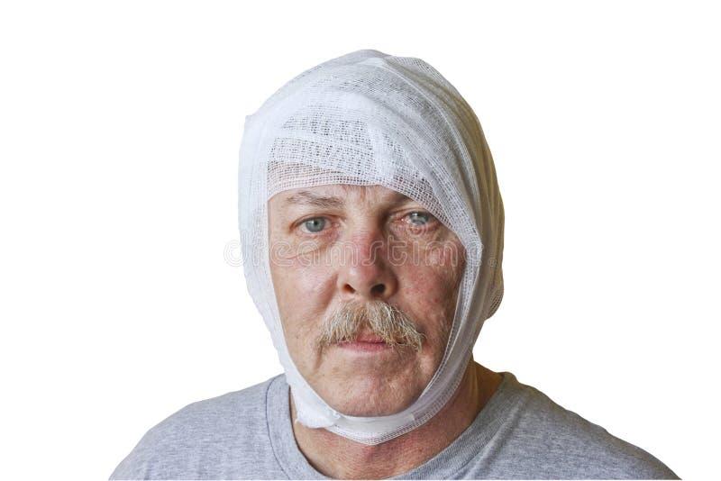 повреждение головы стоковое фото