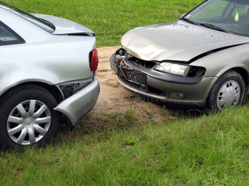 поврежденные автомобили стоковое фото