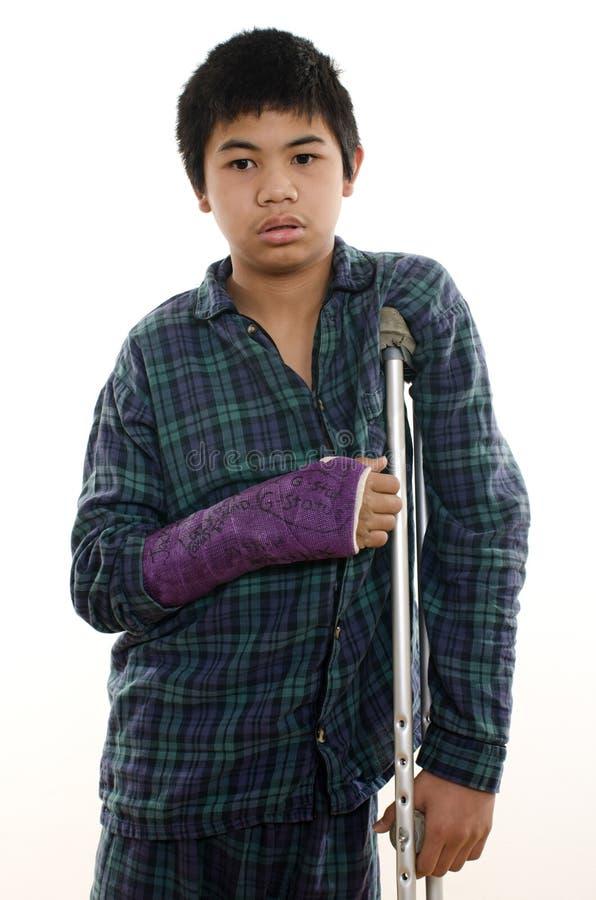 Поврежденный мальчик Стоковые Изображения RF