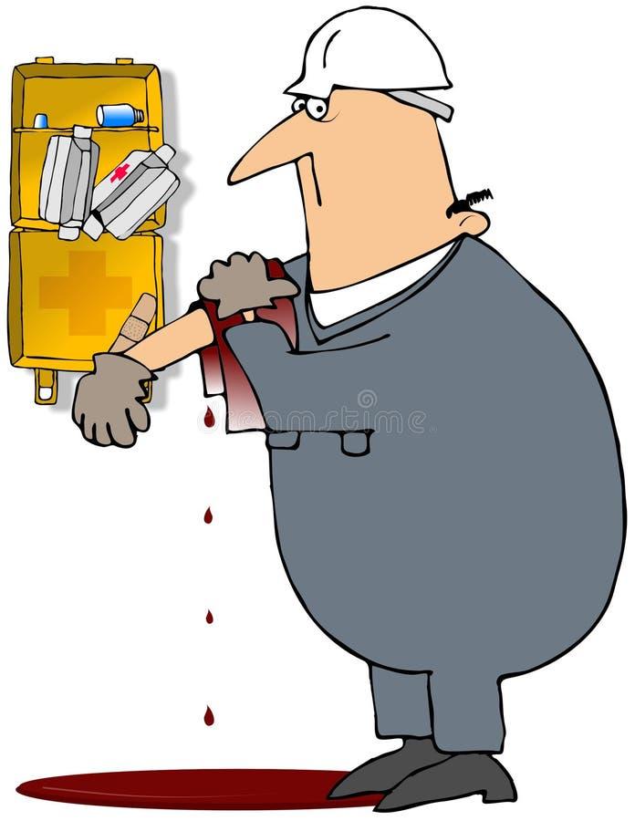 поврежденный работник иллюстрация штока