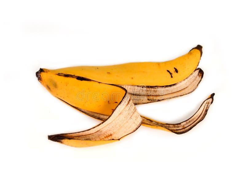 Повреженное желтое корки банана стоковое фото rf